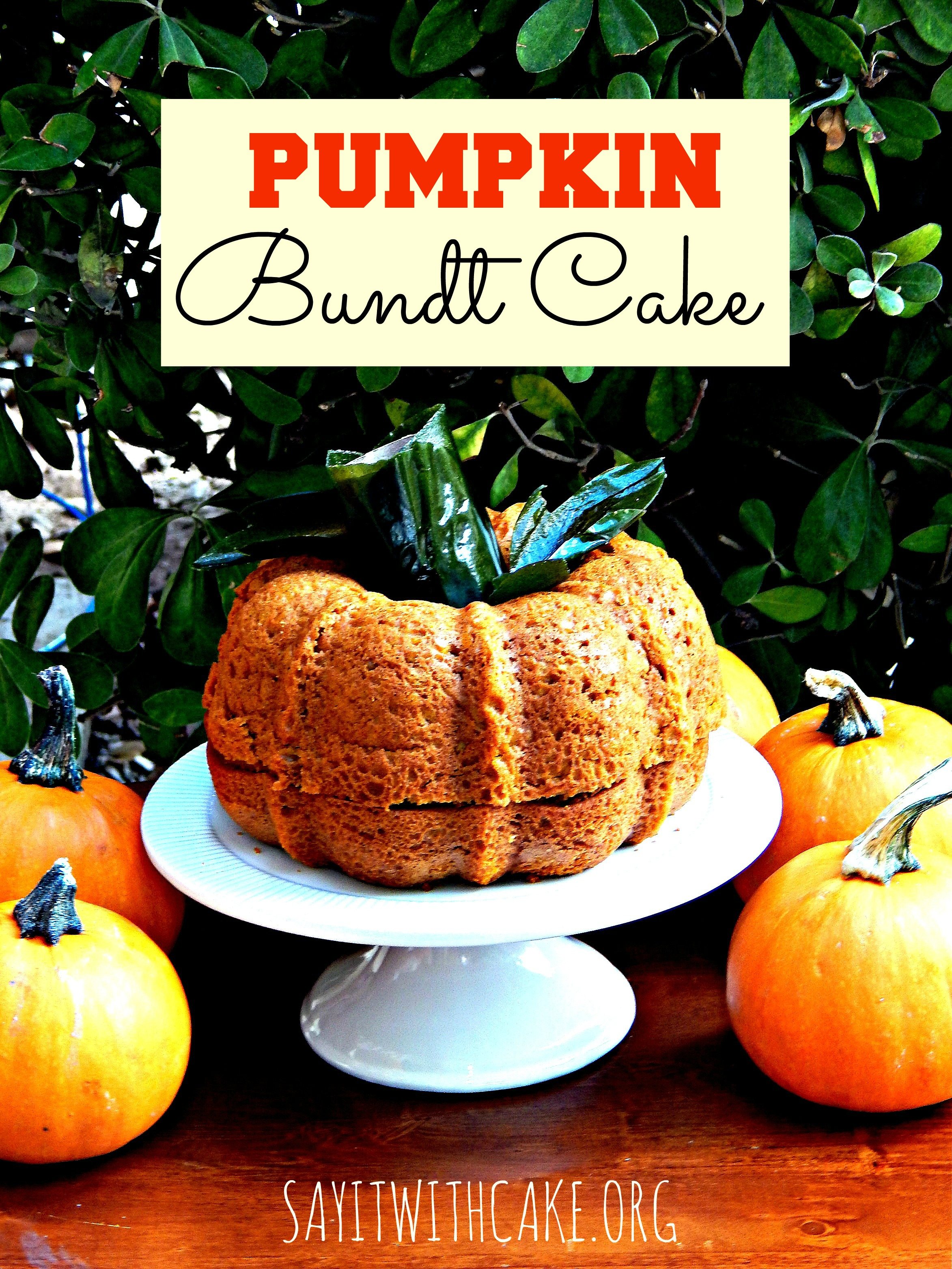 Pumpkin Spice Bundt Cake | Say it With Cake